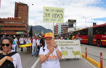 Fecode llevó a cabo protesta por las amenazas y crímenes contra los educadores