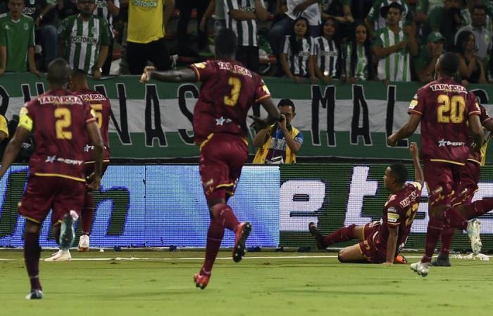 Atlético Nacional pierde en su estadio ante Deportes Tolima
