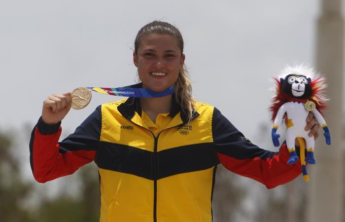 Oro para Colombia en BMX con Gabriela Bollé — Juegos Centroamericanos