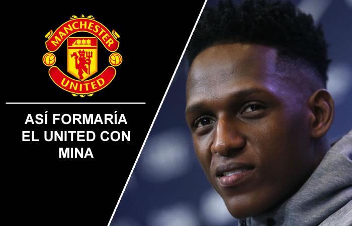 Yerry Mina: Así formaría el Manchester United con el colombiano en la plantilla