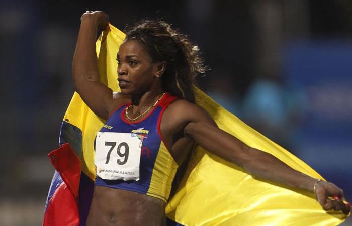 Caterine celebró su medalla de oro. Foto: EFE