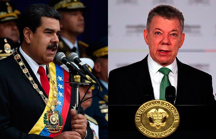 Maduro acusa a Santos de supuesto atentado. Foto: AFP - EFE