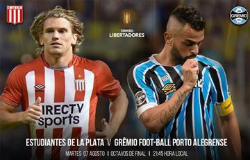 Estudiantes de La Plata venció 2-1 a Grêmio