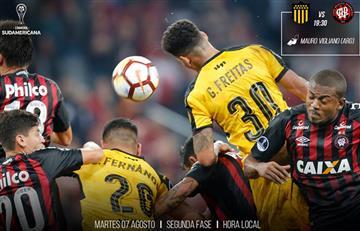 Atlético Paranaense venció 4- 1 al Peñarol