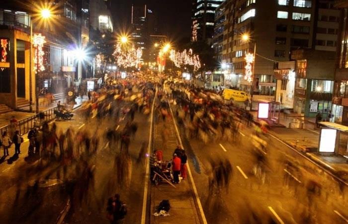 Este jueves Bogotá disfrutará de la ciclovía nocturna. Foto: EFE
