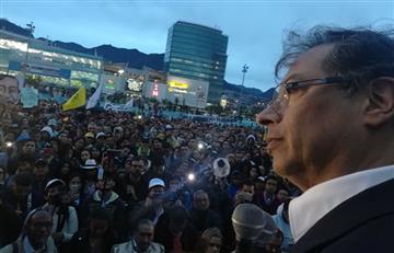 Petro lideró el plantón de oposición durante la posesión de Duque