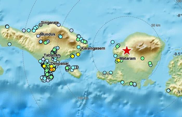 El terremoto fue de 6.1. Foto: Twitter