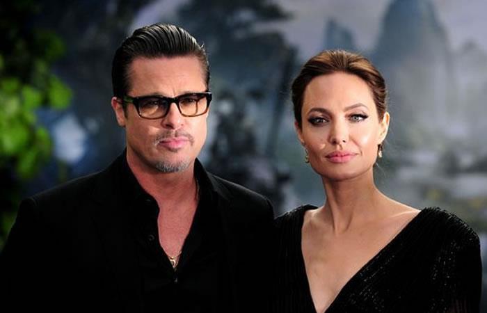 Angelina y Brad, cuando eran esposos. Foto: AFP