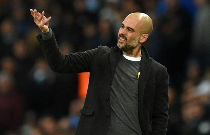 Pep Guardiola, DT de Manchester City. Foto: AFP