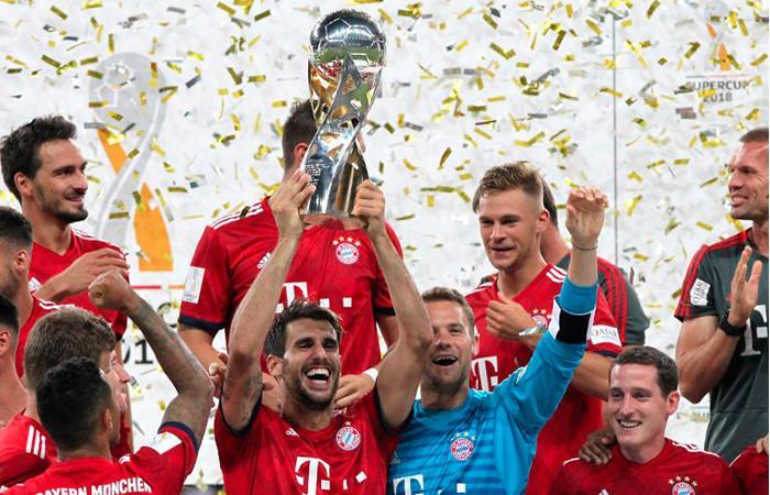 Bayern se queda con la Supercopa alemana. Foto: AFP
