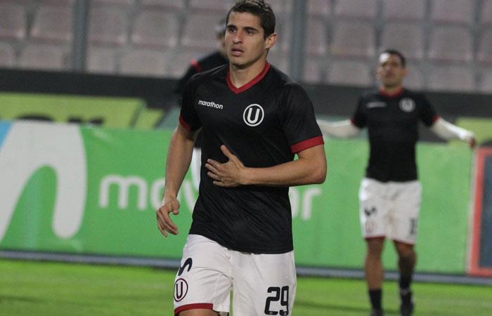 Aldo Corzo, jugador de Universitario de Perú. Foto: twitter oficial @Universitario