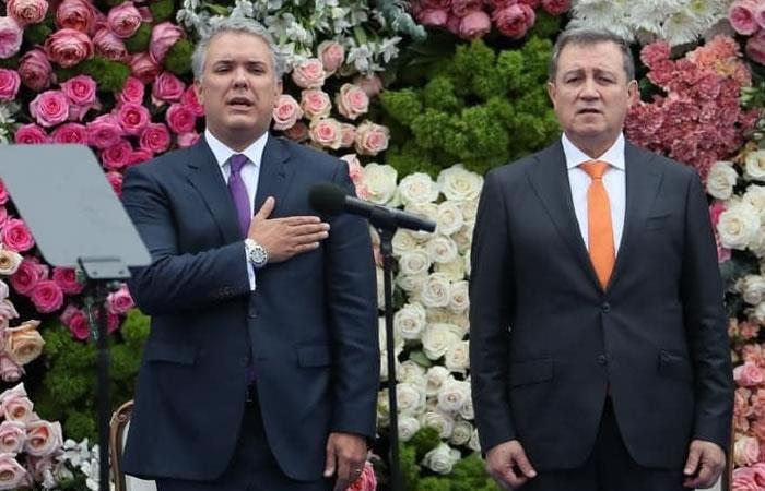 Macías durante la posesión presidencial. Foto: EFE