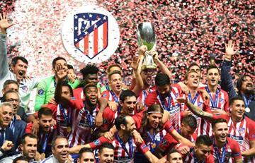 Atlético de Madrid golea a Real Madrid y es campeón de la Supercopa de Europa