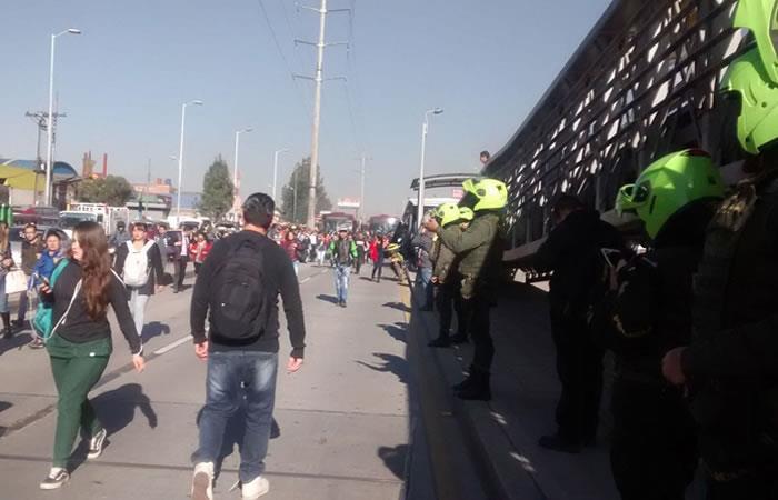 Bogotá: TransMilenio sufre bloqueos en Bosa y Soacha