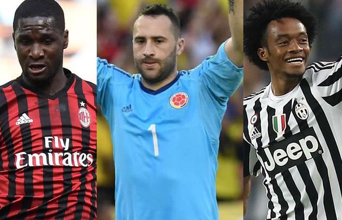 Estos son los colombianos que estarán en la Serie A de Italia. Foto: AFP