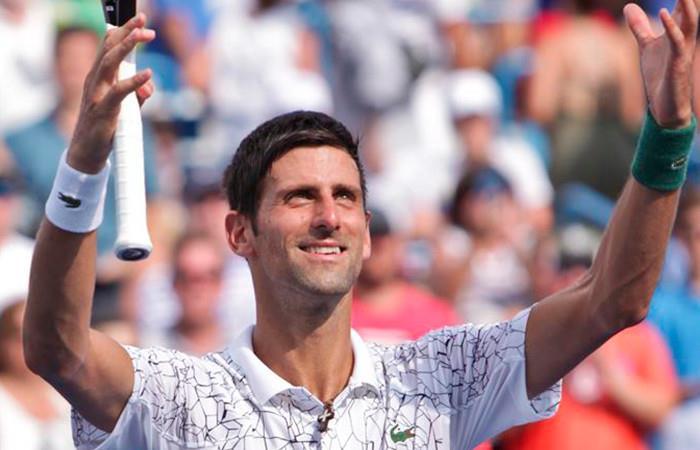 Djokovic a la final de Cincinnati. Foto: EFE