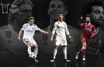 Cristiano, Modric y Salah nominados a mejor jugador del año de la UEFA