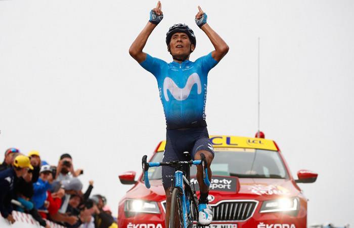 Nairo Quintana líder en la Vuelta España. Foto: AFP