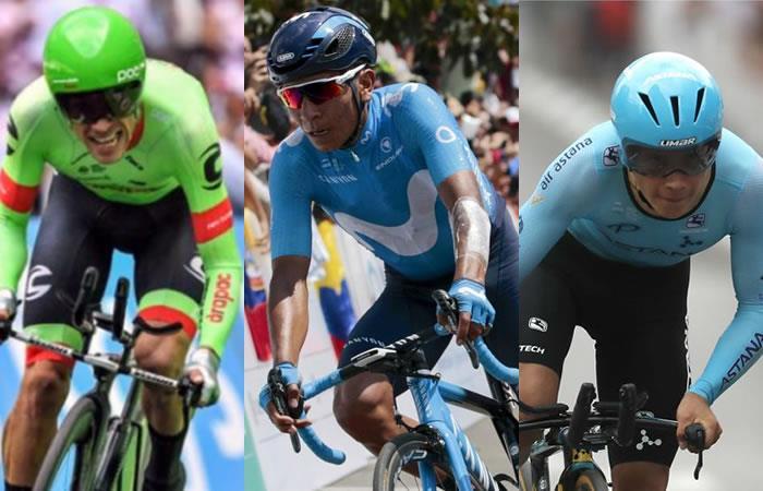 Estos son los ciclistas colombianos que estarán en La Vuelta a España. Fotos: AFP