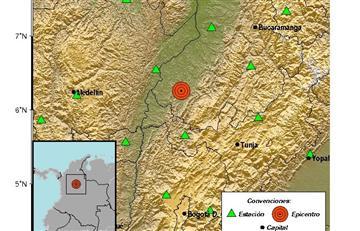 Santander: Nuevo sismo en Colombia