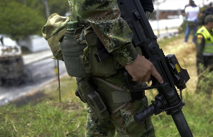La banda fue capturada por el Ejército. Foto: AFP