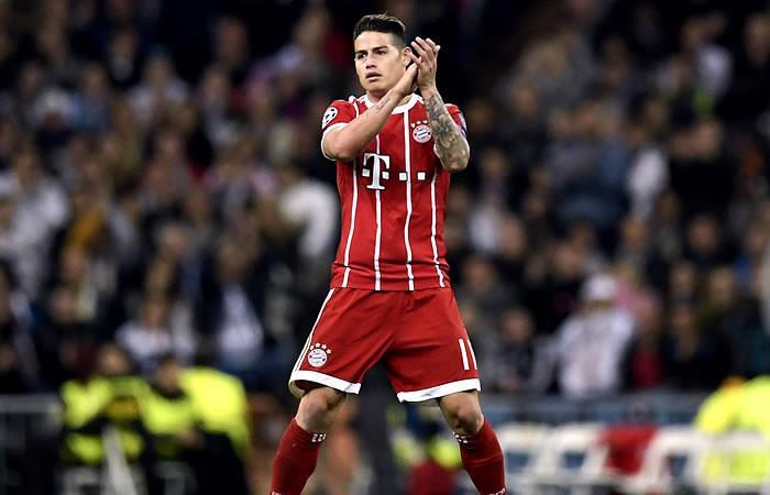 James regresó a las canchas en la victoria del Bayern Múnich
