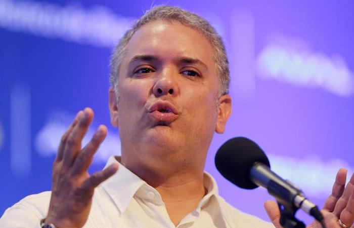Iván Duque reitera su apoyo a la Consulta. Foto: EFE