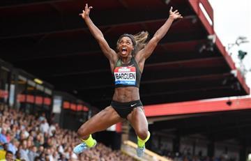 ¡Bicampeona histórica! Caterine Ibargüen gana en salto triple y longitud