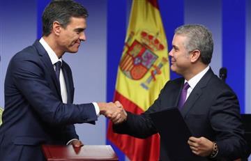 Sánchez brinda a Duque apoyo en negociaciones con ELN