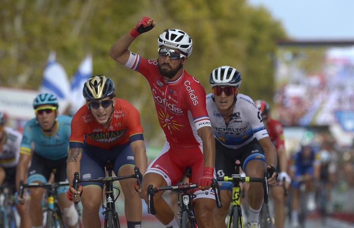 Vuelta a España: Bouhanni gana la etapa y Nairo Quintana asciende