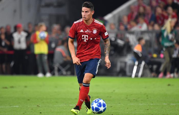 James Rodríguez presente en la goleada de Bayern Múnich a Stuttgart