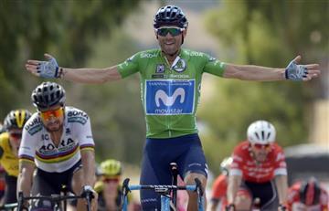 Vuelta a España: Valverde gana la etapa y Rigoberto Urán llega en el top 20