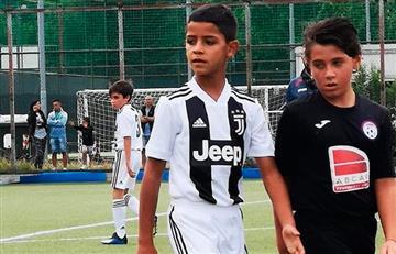 [VIDEO] Así anotó el hijo de Cristiano Ronaldo con Juventus