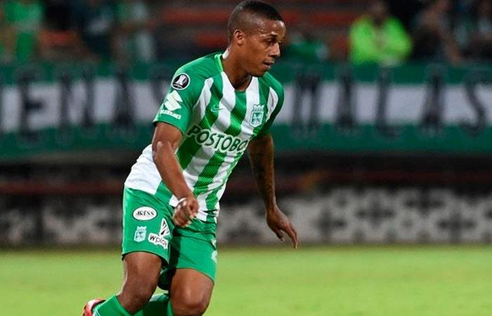 Jeison Lucumí anotó el empate para Nacional. Foto: AFP