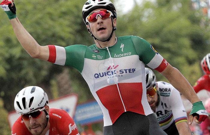 Vuelta a España: Elia Viviani gana su segunda etapa y Yates sigue líder
