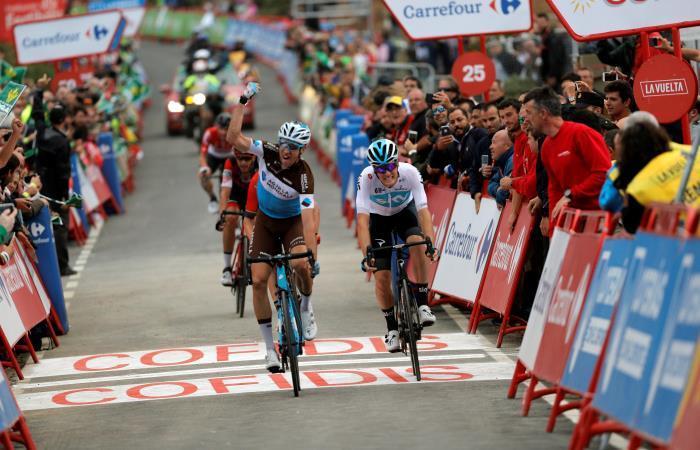 Alexandre Geniez gana la etapa 12 de la Vuelta a España. Foto: EFE