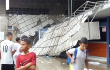 Se desploma el techo del colegio de Shakira