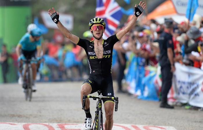 Simon Yates ganador de la etapa 14 de la Vuelta España. Foto: AFP