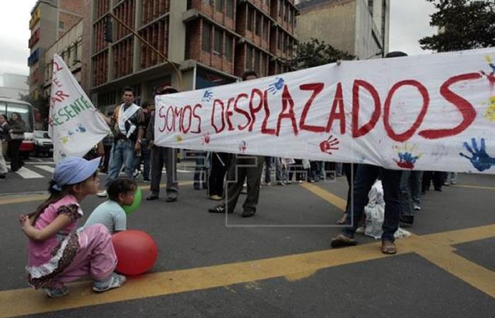 El desplazamiento se dio en Antioquia. Foto: EFE