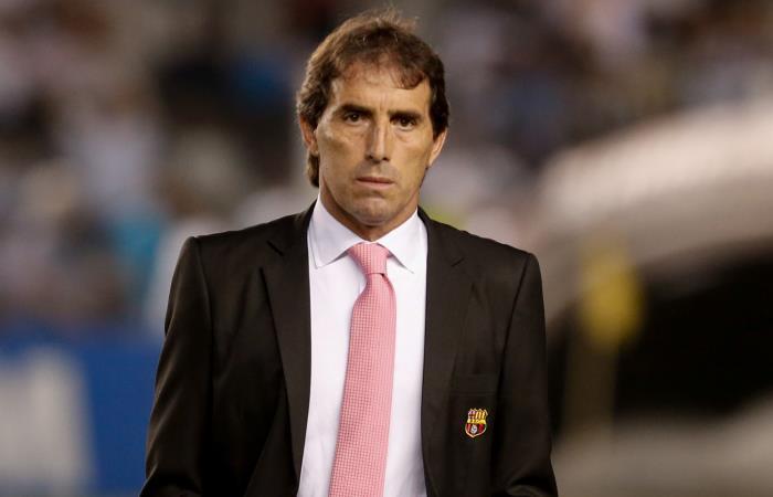 Guillermo Alamada, DT de Barcelona de Ecuador. Foto: AFP