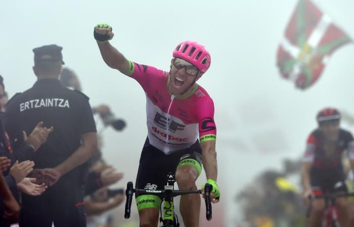 Michael Woods gana la etapa 17 de la Vuelta a España 2018. Foto: AFP