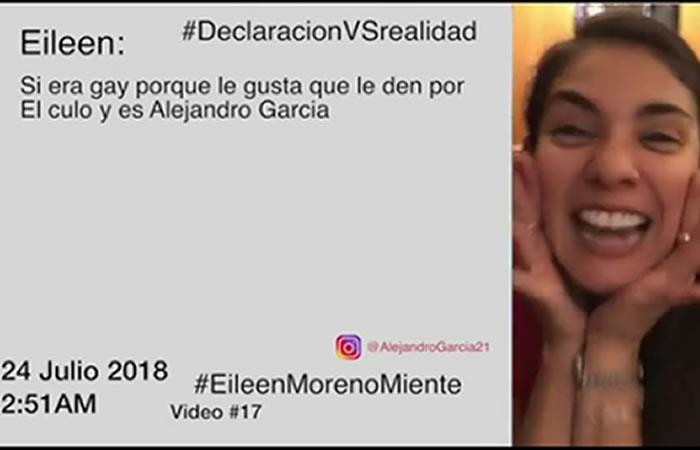 Alejandro García revela vídeo en contra de Eileen Moreno