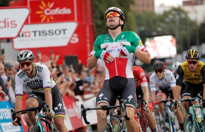 Elia Viviani gana la última etapa de la Vuelta a España 2018. Foto: EFE