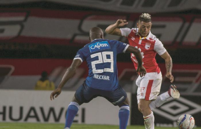 Santa Fe recibe a Millonarios en el clásico que paraliza a Bogotá. Foto: AFP