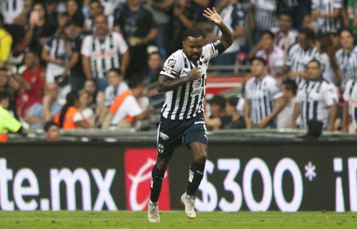 Dorlan Pabón, jugador de Monterrey. Foto: AFP