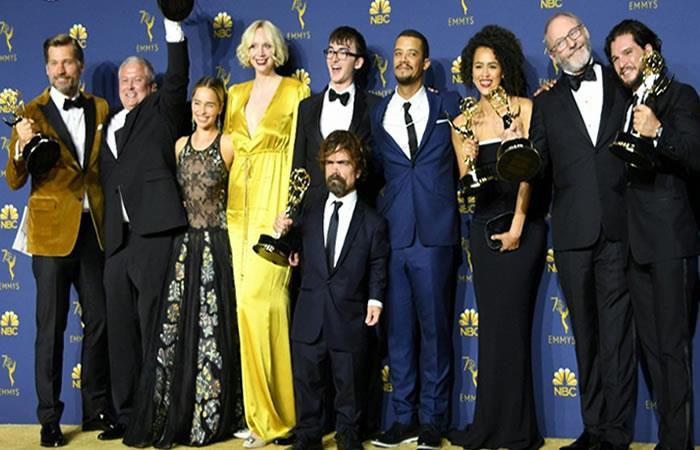 Los ganadores de los Emmy 2018. Foto: AFP.