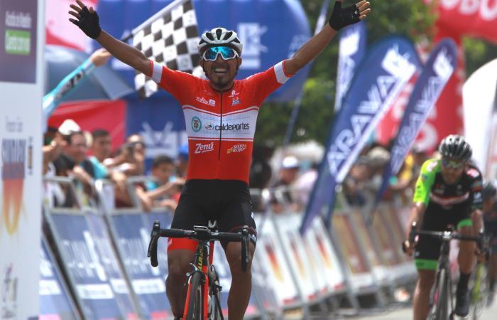 Miguel Ángel Rubiano gana la primera etapa del Clásico RCN 2018. Foto: EFE