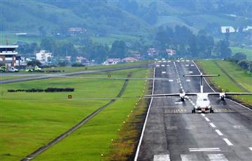 Manizales: Cenizas volcánicas afectan la operación del aeropuerto La Nubia