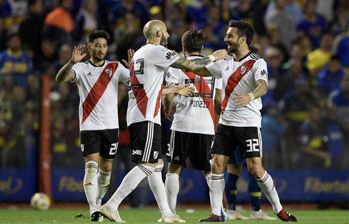 River Plate ganó frente a Boca. Foto: AFP