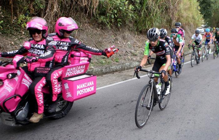 Los pedalistas en la cuarta etapa del Clásico RCN 2018. Foto: twitter @Antena2RCN